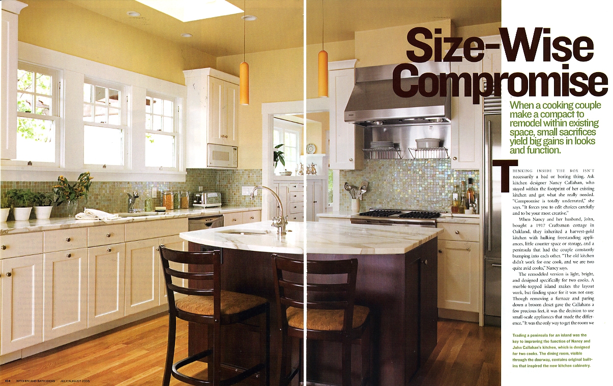 She And Her Husband John Both Avid Cooks Wanted A Kitchen Where They Could Work Together They Got It By Centering Their Work Area Around Small Scale
