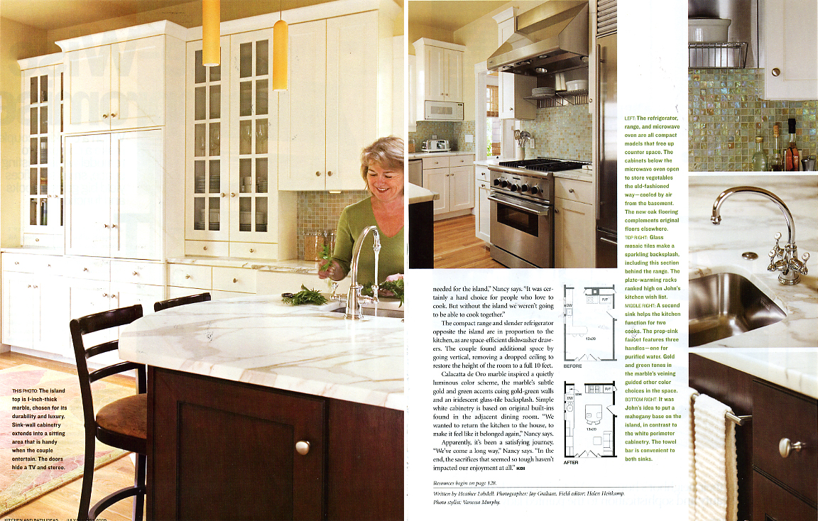 For Avid Cooks A Too Small Kitchen Typically Won T Cut It But For Designer Nancy Callahan And Her Husband John Staying Within A Compact Footprint